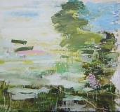 Das Flirren des Frühlings, Oel auf Nessel, 145 x 155 cm, 2017
