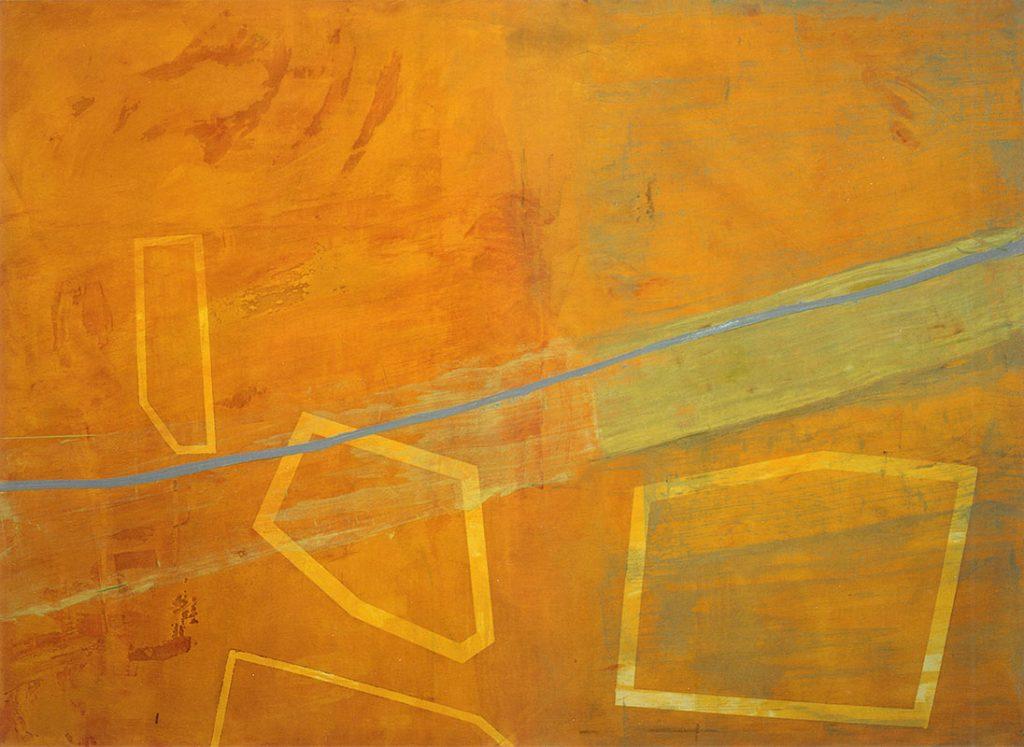 Lagune, 130 x 180 cm, Oel auf Nessel 1994
